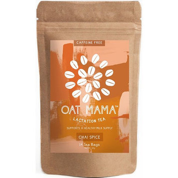 Lactation Tea by Oat Mama - Herbal Drink for Breastfeeding and Nursing Moms - Boost your Breast Milk Supply - With Fenugreek Leaf - 100% All-Natural Chai Spice Tea