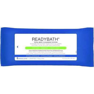 Medline ReadyBath Scented Body Cleansing Cloths, Standard Weight (Pack of 30) (Packaging may vary)