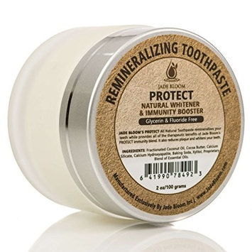 Jade Bloom All Natural REMINERALIZING TOOTHPASTE PROTECT - Natural Whitener & Immunity Booster, Original Flavor