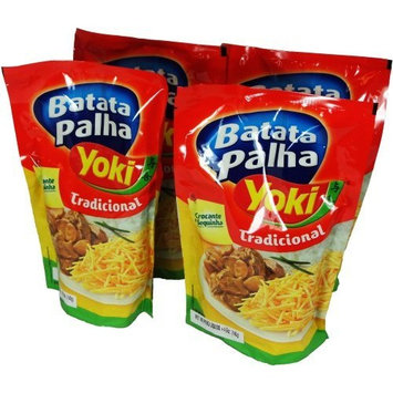 Potato Sticks Yoki - 4.9 oz | Batata Palha Yoki - 140g - (PACK OF 04)