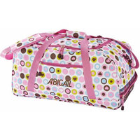Personalized Playful Print Small Duffle Bag