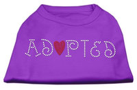 Mirage Pet Products 5202 SMPR Adopted Rhinestone Shirt Purple S 10