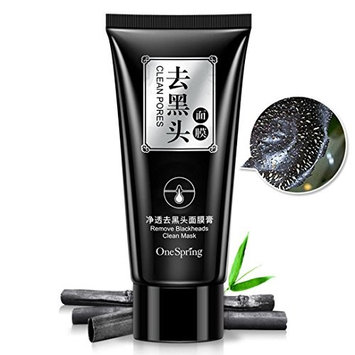 Deep Cleansing Purifying Blackheads and Acne Peel-off Mask Black Mud Face Mask 50g by TOPUNDER F