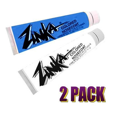 Zinka Colored Sunblock Zinc Waterproof Nosecoat 2 Pack Bundle - Blue White