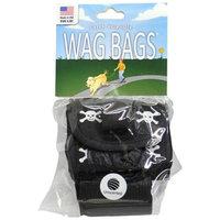 Wag Bags Dispenser Skull & Cross Bones [Options : BLACK (30 Bags)]