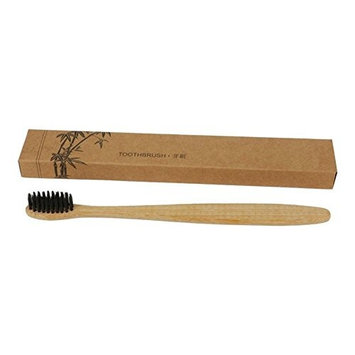 ZHUOTOP Natural Bamboo Toothbrush Eco Dental Oral Care Brush Soft Bristle Bamboo Handle 1#-Round