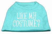 Mirage Pet Products 51-94 LGAQ Like my costume Screen Print Shirt Aqua L - 14