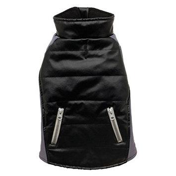 Dogit Matrix Faux Leather Jacket - Black, Extra Extra Large