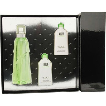 Thierry Mugler Cologne By Thierry Mugler For Unisex Edt Spray 3.4 Oz & Hair And Body Shower Gel .87 Oz & Body Lotion 1 Oz