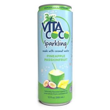 Vita Coco Sparkling Coconut Water, Pineapple Passionfruit, 12 Fl Oz