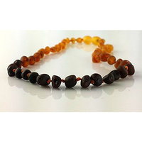 Certified Baltic Amber Teething Necklace - SCREW Clasp (3 Sizes)   R.B. Amber & Sons (10-11 inches - SCREW Clasp, Unpolished Butter Baroque)
