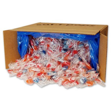 Spangler Candy Company Saf-T-Pops Swirl, 25 lb. Bulk Case, 1,000 Count