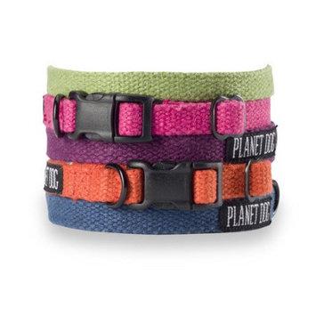 Planet Dog Small Hemp Dog Collar - Color: Blue