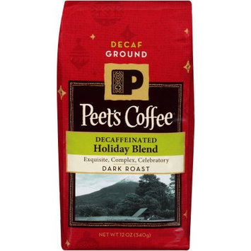 Peet's Coffee & Tea Peet's Coffee Decaffeinated Holiday Blend Dark Roast Ground Coffee, 12 oz