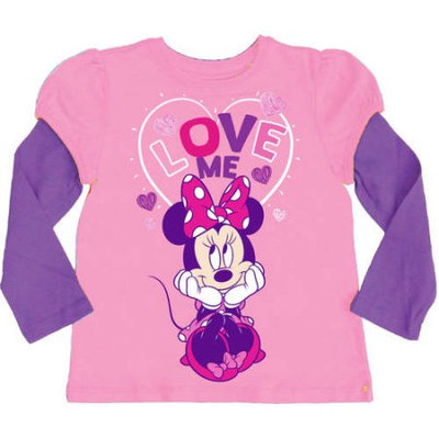 Mickey Mouse & Minnie Mouse Candy & Grape Minnie Mouse Layered Tee - Toddler & Girls