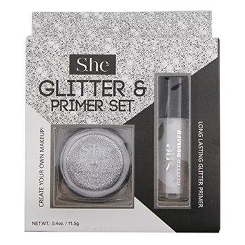 SHE Loose Glitter Primer Set (Gold, Silver) (Silver)
