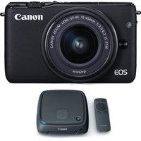 Canon EOS M10 Mirrorless Camera w/ EF-M 15-45mm IS STM Lens + 1TB CS100 Storage Hub