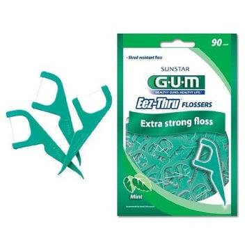Special pack of 6 -GUM EEZ-THRU FLOSSERS MINT 90CT SUNSTAR AMERICAS by Choice