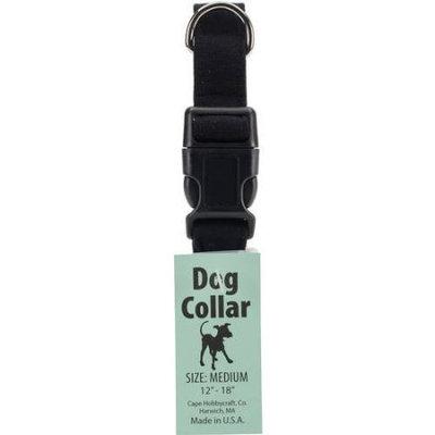 Cape Hobbycraft Medium Black Dog Collar W/Welded D-Ring Buckle-Neck Size 12