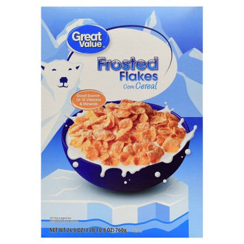 Wal-mart Store, Inc. Great Value Sugar Frosted Flakes Cereal, 26.8 oz