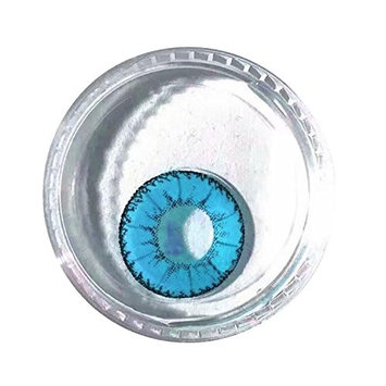 Meflying Cosplay Large Diameter Eyes Makeup Cosmetic Multicolor Cute Charm and Attractive Eye Glosses [Blue]
