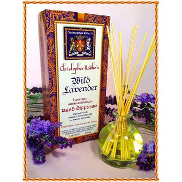 Christopher Radko's Hudson Organics Wild Lavender Luxe Spa Reed Diffuser 3.38oz.