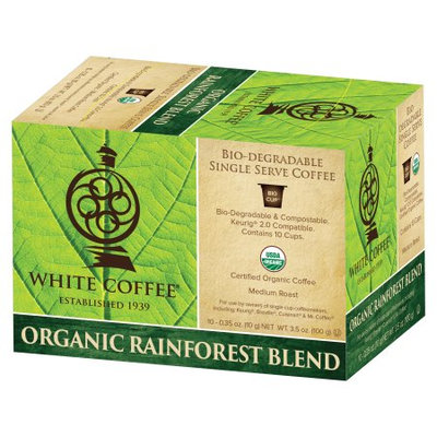 White Coffee Whtie Coffee Organic Breakfast Blend Whole Bean 2.5lbs.