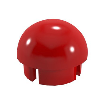 Formufit Drain Tubes & Fittings 1-1/4 in. Furniture Grade PVC Internal Ball Cap in Red (10-Pack) F114BEC-RD-10