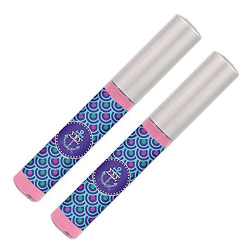 Sigma Sigma Sigma Lip Gloss (2 Pack) Soft Pink, Sheer, Smooth & Shiny. Great Tri Sigma sorority gifts for Big Little, Bid Day, gift baskets, gift bags, stocking stuffers—by Worthy.