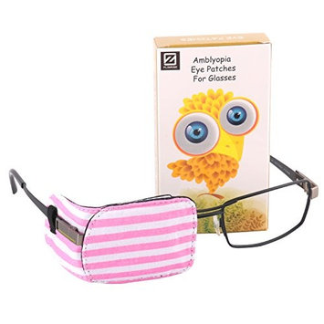 Plinrise Pack of 1 Eye Patches No Light Leak, Soft and Comfortable Amblyopia/Lazy Eye Patches For Children, Kids Eye Patch,Strabismus, Child Health Protection Light Zebra Pink