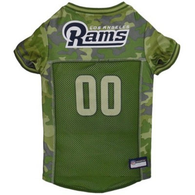 NFL Pets First Camo Pet Football Jersey - Los Angeles Rams