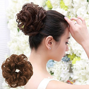 Women's Curly Messy Hair Piece Wig - Franterd Bun Hair Twirl Piece Scrunchie Wigs Extensions Hairdressing