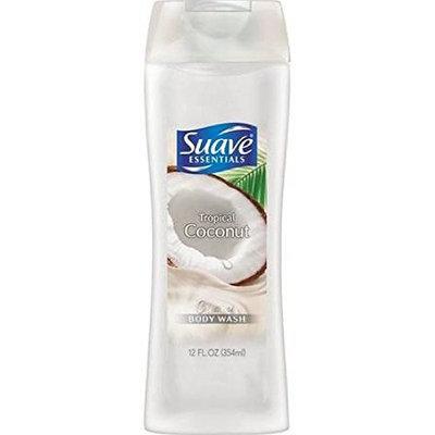 Suave Essentials Tropical Coconut, Creamy Body Wash 12 oz (10 Pack)