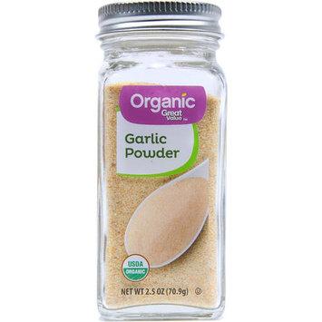 Great Value Organic Garlic Powder, 2.5 oz