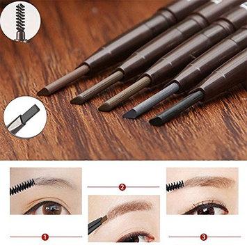 Wuudi Squeeze Refill Eyebrow Pencil Eyebrow Brush Double-head Automatic Rotating Eyebrow Pencil
