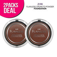 Zuri Flawless Cream to Powder Foundation - Cocoa (Pack of 2)