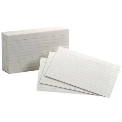 Oxford Index Cards, 3
