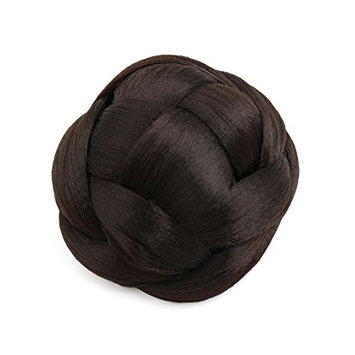 uxcell Synthetic Hair Chignon Clip-In Donut Bun Updo Hairpiece Wig for Women Girls 16M613#