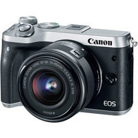 Canon M6 EOS 24.2MP Mirrorless Digital Camera with EF-M 15-45mm IS STM Lens (Silver)