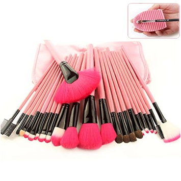 Lookathot Makeup Brushes, 24 Pieces Makeup Brush Set Bamboo Handle Professional Foundation Blending Blush Eye Face Liquid Powder Cream Cosmetics Brushes with Pouch Bag and Brush Egg