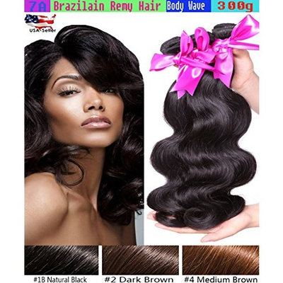 3 Pack Bundle 7A Indian Body Wave Real Virgin Wavy Remy Human Hair Weave Dark Brown #2 Color -14