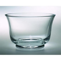Majestic Gifts European Handmade Thick Revere Bowl, Large, Clear