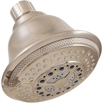 LDR Shower Head 5 Function Brushed Nickel Finish with Brushed Nickel Face