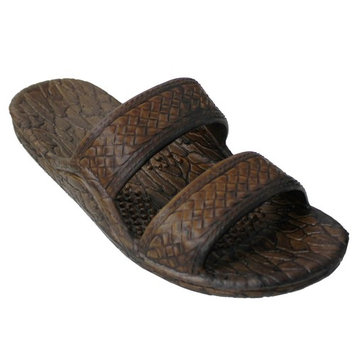 Pali Hawaii Genuine Original Jesus Jandal Sandal (Dark Brown;Size 7)