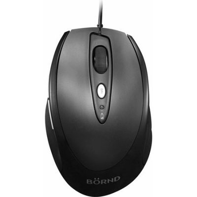 Bornd J70 Wired USB Optical Full-size Mouse (Black)