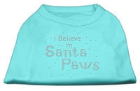 Mirage Pet Products 522511 XSAQ I Believe in Santa Paws Shirt Aqua XS 8