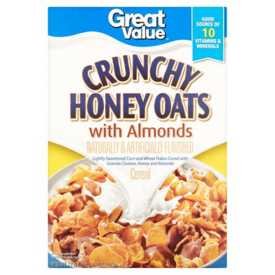 Wal-mart Store, Inc. Great Value Crunchy Honey Oats with Almonds Cereal, 27 oz
