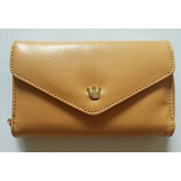 HuntGold 3 Slot Lady Mini ID Bank Card Cash Cellphone Envelope Purse Wallet Handbag Pouch(light coffee)