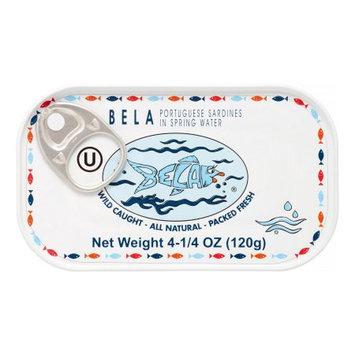 Bela-olhao Sardines SARDINES IN SPRING WATER, (Pack of 12)