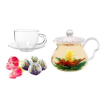 Tea Beyond Fab Flowering tea Jasmine Fairy with cup set